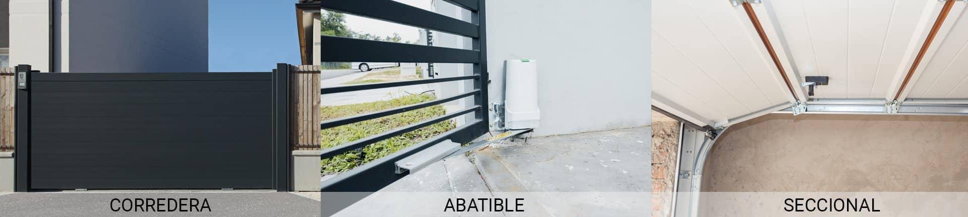 Tipos de puerta Easy Parking