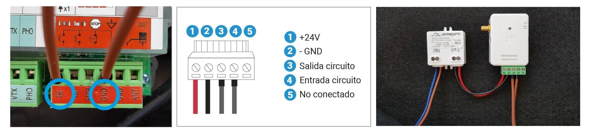 Conexión con la centralita